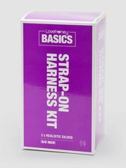 BASICS Strap-On Harness Kit with 2 Dildos, Black, hi-res