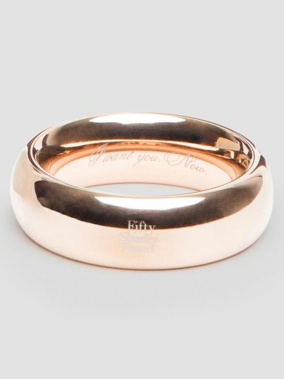 Fifty Shades Freed I Want You. Now. Steel Love Ring, Gold, hi-res