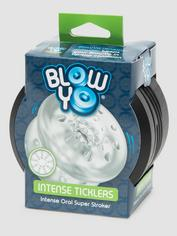 BlowYo Intense Ticklers Textured Blowjob Stroker, Clear, hi-res