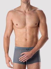 LHM Microfibre & Mesh Boxer Shorts, Grey, hi-res