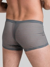 LHM Stripe Mesh Boxer Shorts Black, Grey, hi-res