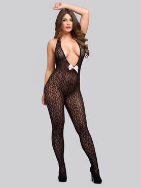 Lovehoney Focus On Me Plunging Crotchless Bodystocking