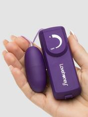 Lovehoney Wickedly Powerful Love Egg Vibrator, Purple, hi-res