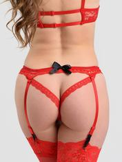 Lovehoney Seduce Me Push-Up Crotchless Cut-Out Body, Red, hi-res