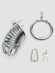 DOMINIX Deluxe Chastity Cock Cage, Silver, hi-res