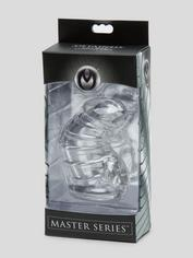 Master Series Detained Stretchy Soft Chastity Cage, Clear, hi-res