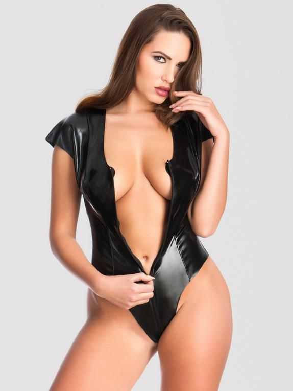 Easy-On Latex Access All Areas Zip-Around Body, Black, hi-res