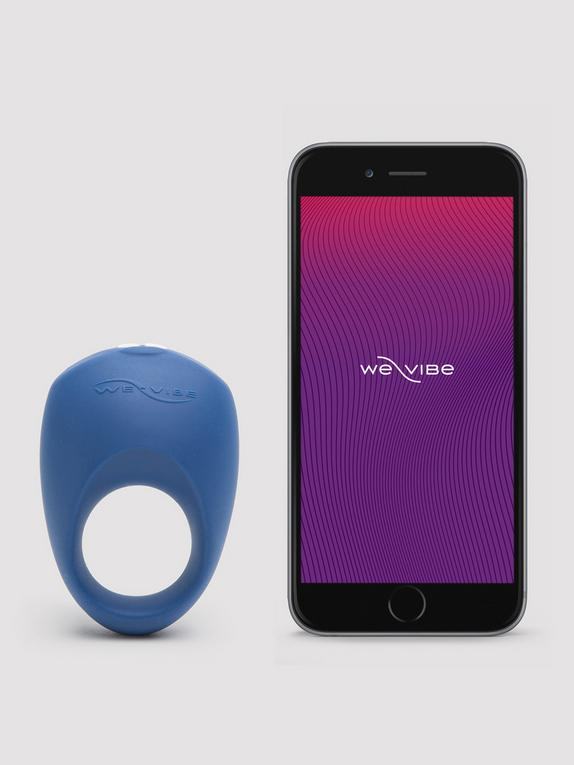 We-Vibe Pivot App Controlled Rechargeable Vibrating Cock Ring, Blue, hi-res