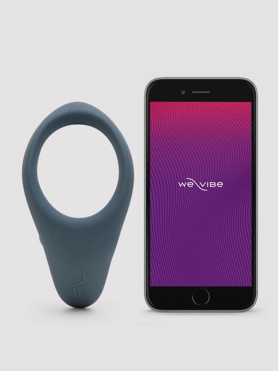 We-Vibe Verge App Controlled Rechargeable Vibrating Cock Ring, Black, hi-res