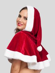 Miss Santa Faux Fur Trim Cape, Red, hi-res