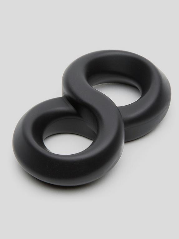 Lovehoney Magic 8 Stretchy Silicone Cock and Ball Ring, Black, hi-res