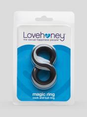 Anillo de Silicona para Pene y Testículos Magic 8 Lovehoney, Negro , hi-res
