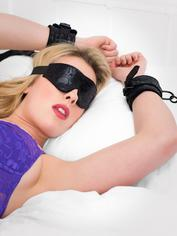 Bondage Boutique Black Rose Under Mattress Restraint Kit (2 Piece), Black, hi-res