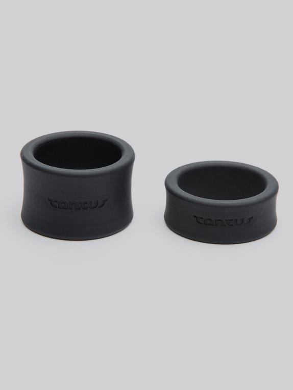 Étireurs de testicules silicone (2 pièces), Tantus, Noir, hi-res