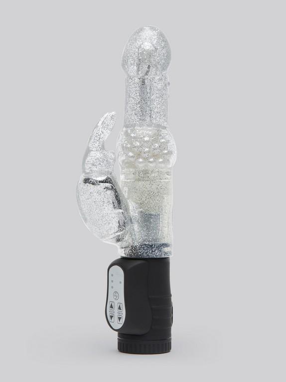 Lovehoney Jessica Rabbit 10 Function Silver Rabbit Vibrator, Silver, hi-res