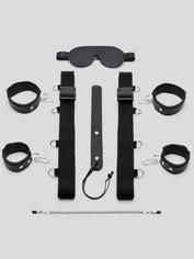 DOMINIX Deluxe Leather Under Mattress Bondage Kit (7 Piece), Black, hi-res