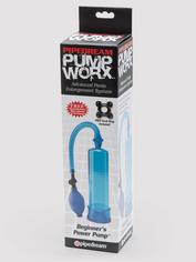 Pump Worx Beginner's Power Penis Pump, Blue, hi-res