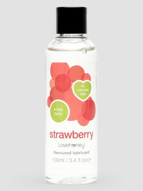 Lovehoney Strawberry Flavoured Lubricant 100ml, , hi-res