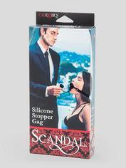 Scandal Silicone Stopper O-Ring Gag, Black, hi-res