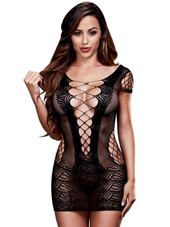 Baci Corset Front Lace Mini Dress