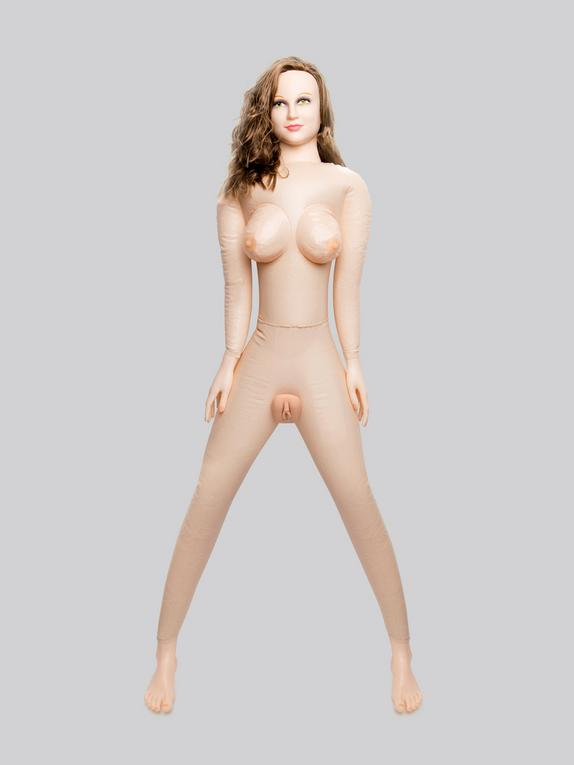 Horny Quella Realistic Vagina and Ass Vibrating Inflatable Sex Doll 3.2kg, Flesh Pink, hi-res