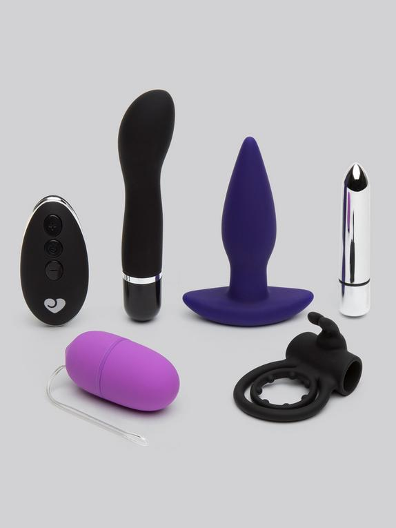 Lovehoney Hot Date Remote Control Couple's Sex Toy Kit (5 Piece), Black, hi-res