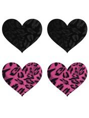 Peekaboos Wildcat Hearts Nipple Pasties (2 Pairs), Black, hi-res
