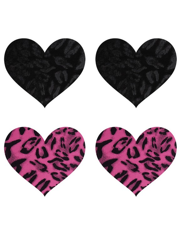 Peekaboos Wildcat Hearts Nipple Pasties (2 Pairs), Black, hi-res