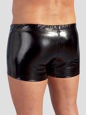 Black Level PVC Zip Front Boxers, Black, hi-res