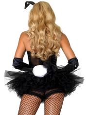 Leg Avenue Bunny Costume Accessory Kit (3 Piece), Black, hi-res