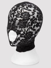 Scandal Open Mouth Lace Hood, Black, hi-res