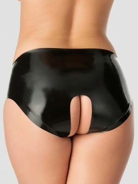 Rubber Girl Latex Crotchless Panties