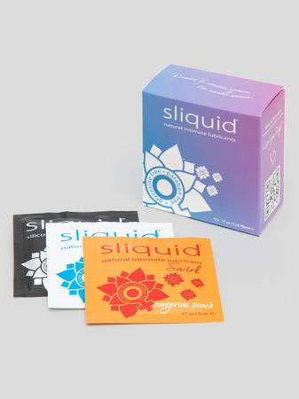 Sliquid Naturals Lube Cube Lubricant Sachets (12 Pack)