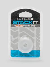 Perfect Fit Stackit Super Soft Stackable Cock Ring, Clear, hi-res