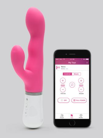 Lovense Nora App Controlled Rotating Rabbit Vibrator