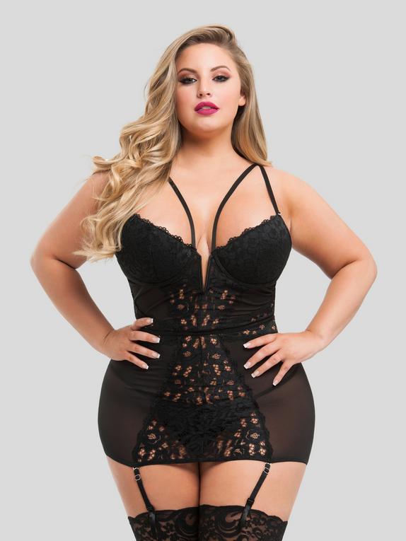 Lovehoney Parisienne Unterkleid (schwarz), Schwarz, hi-res