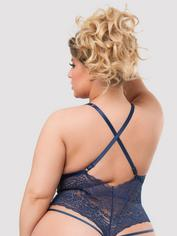 Body fendu dentelle Late Night Liaison bleu, Lovehoney, Bleu, hi-res