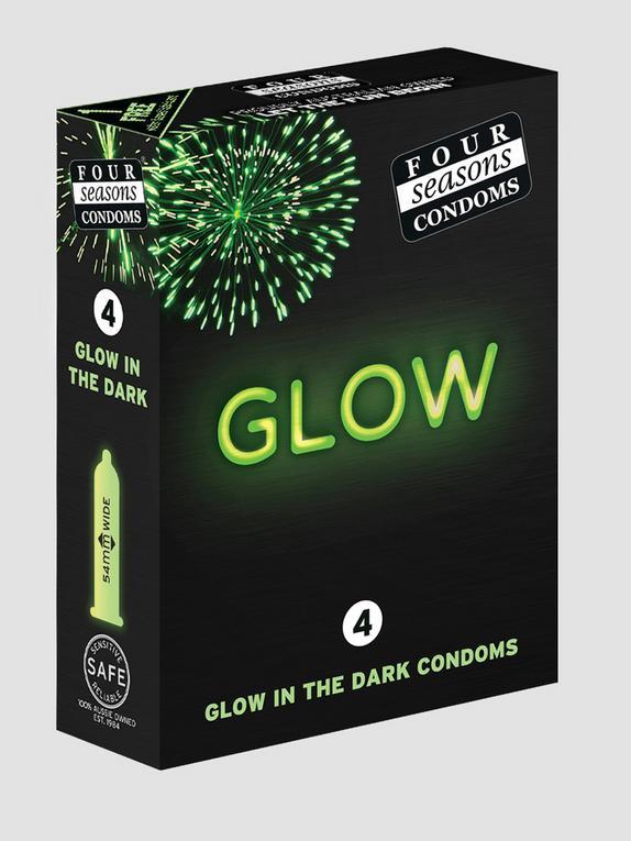 Four Seasons Glow In The Dark Condoms (4 Pack), , hi-res