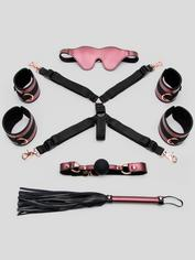 Bondage Boutique Seduce Me Lover's Bed Bondage Kit (4 Piece), Pink, hi-res