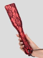 Bondage Boutique Leather and Lace Spanking Paddle, Red, hi-res