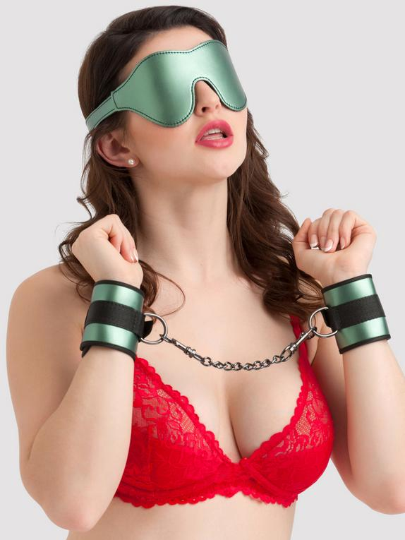 Bondage Boutique Lusty Metallic Beginner's Bondage Kit (2 Piece), Green, hi-res