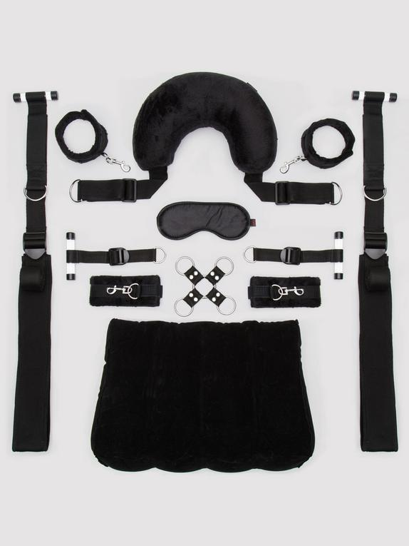 Lovehoney Position Master Mega Bondage Kit (8 Piece), Black, hi-res