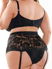 Fantasy Curve Plus Size Underwired Longline Bra Set, Black, hi-res