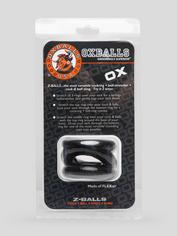 Oxballs Z-Balls 3-in-1 Cock Ring and Ball Stretcher, Black, hi-res