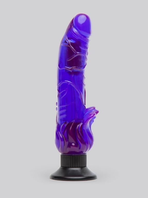 Lovehoney Triple Tickler Suction Cup Dildo Vibrator 5.5 Inch, Purple, hi-res