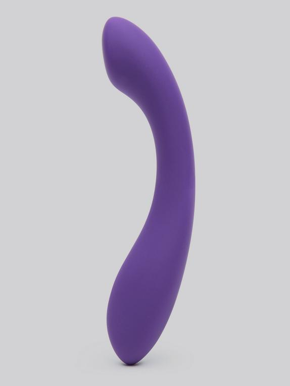 Desire Luxury Weighted Curved Silicone Dildo, Purple, hi-res