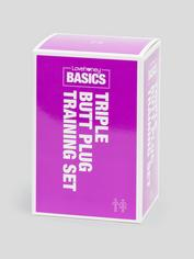 BASICS Triple Butt Plug Training Set, Purple, hi-res