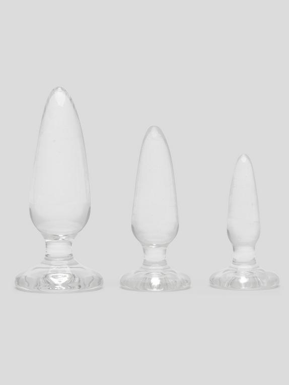 Jelly Rancher Pleasure Anal Training Butt Plug Kit (3 Piece), Clear, hi-res