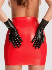 Rubber Girl Black Latex Gloves, Black, hi-res