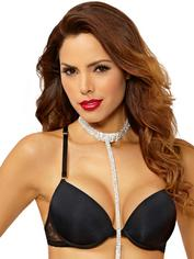 Seven 'til Midnight Rhinestone Belly Chain with Choker, Silver, hi-res